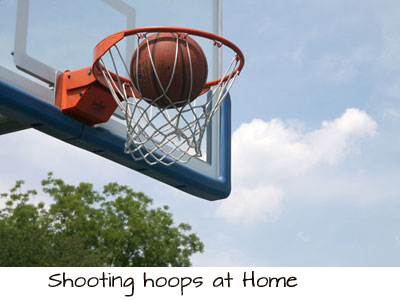 shooting hoops at home