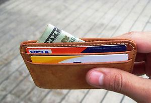 Shamrock Wallets Minimalist RFID Blocking Leather Wallet