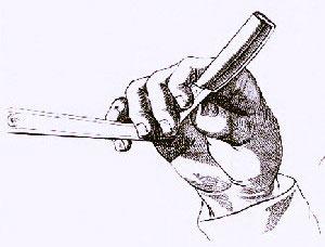 holding a straighr razor