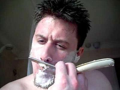 shaving the upper lip