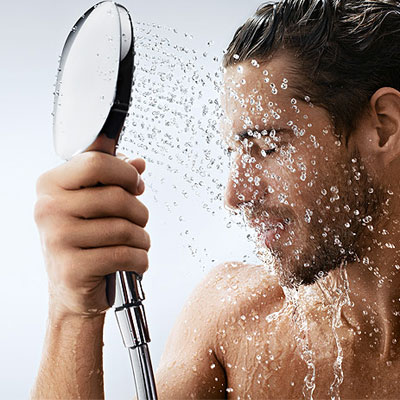 showering to soften beard