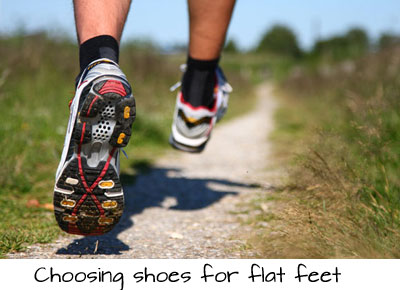 choosing shoes for flat feet