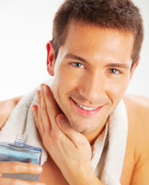 applying after shave