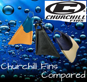 churchill-fins compared