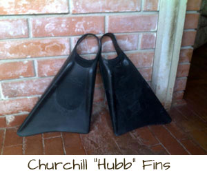 churchill hubb fins