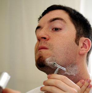 shaving the neck