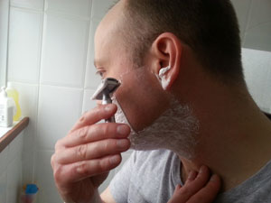shaving side of head