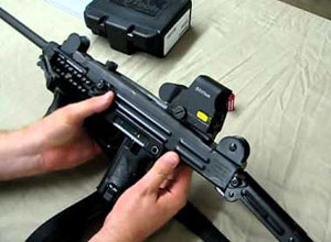 red dot sight mounted