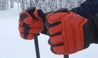 ski gloves squeeze