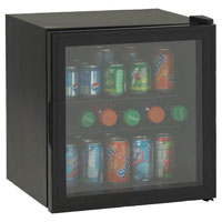 Avanti BCA184BG Beverage Cooler - Black w/ Glass Door