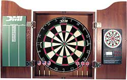 DMI Sports Bristle Dartboard Cabinet Sets - Includes LED Lighting or Electronic Scoring Option