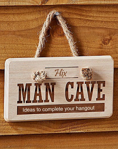 man cave ideas sign