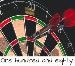darts-180 throw