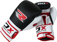 RDX Cow Hide Leather Gel Boxing Gloves Fight, Punch Bag, MMA Grappling Pad