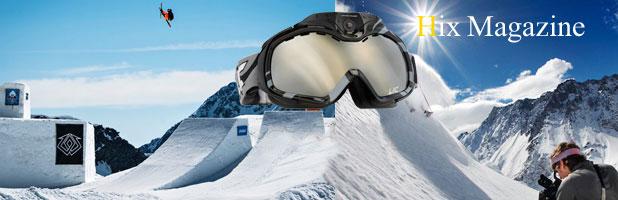 Ski goggles with camera