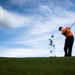focus on the golf ball