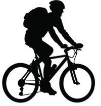 mountainbiker silhoutte