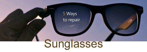 sunglasses scratch repair
