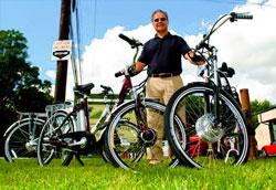 hybrid bikes on grass