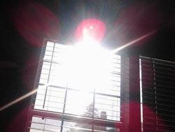 sun through window
