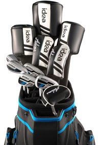 Mens Idea Woods/Irons Sets 5Wds/6Irns/Putter/Bag Graphite, Regular