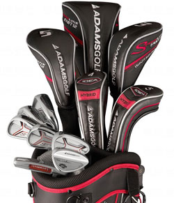 Mens Speedline Plus Woods/Irons Set 3Wds/2Hyb/6-Sw/Putter/Bag Graphite/Steel