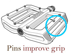 pins improve grip