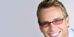 wearing light sensetivity glasses