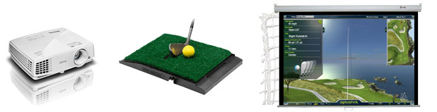 how to build indoor home golf simulator