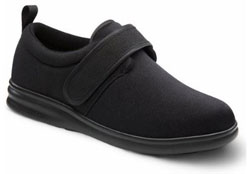 Dr. Comfort Men's Carter Black Stretchable Diabetic Casual Shoes