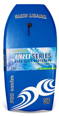 High Performance Bodyboard Pro Series with Leash Bright Neon Slick Backs