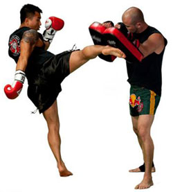 kick boxing spar