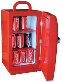 Coca Cola CCR-12 Retro Fridge, Red open