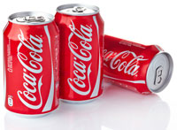 coca cola beverage cans