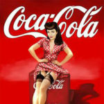 vintage coca cola girl sitting on cooler