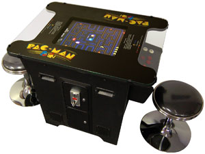 Cocktail Arcade Machine 60 in 1 Games Includes 2 Chrome Stools