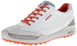 ECCO Men's Biom Hybrid II Golf Shoe,White/Fire