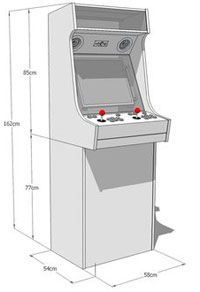 arcade machine dimensions