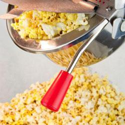 hot popcorn served