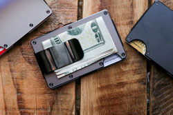 money-clip on table