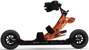 Skike V8 Lift Cross 2R Roller Ski Bundle with Free Poles
