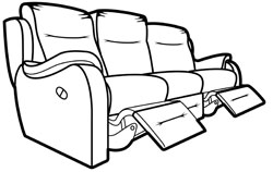 home theater sofa