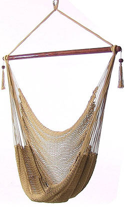 Sunnydaze Hanging Caribbean XL Hammock Chair