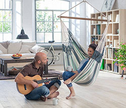 Amazing Indoor Hammock In Living Room