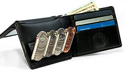 Bifold Wallet with Coin Sorter