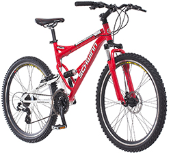 Schwinn Protocol 1.0 Men's Dual-Suspension Mountain Bike (26-Inch Wheels, Red)
