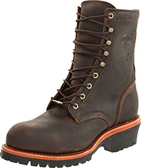 "Chippewa Men's 8"" Steel Toe EH 20091 Logger Boot"