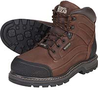 Gravel Gear Waterproof 6in. Steel Toe Work Boot - Brown