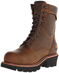 "Timberland PRO Men's 9"" Rip Saw Logger Steel-Toe Waterproof Work and Hunt Boot"