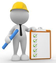 worker explaining safety symbols